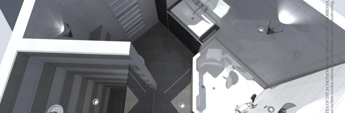 Geers b v almen badkamer 3d cad ontwerp for Ontwerp 3d badkamer